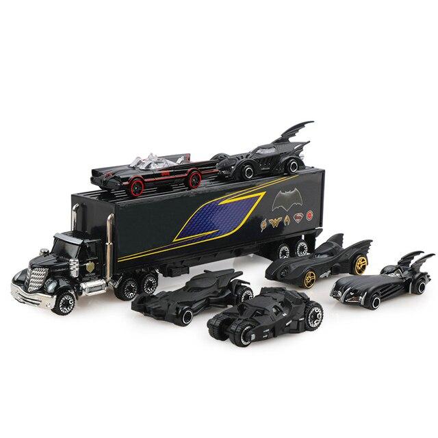 7 шт./компл. Diecast металлические для грузовых автомобилей, Batman Batmobile автомобиль сплав игрушечные машинки модели автомобиля игрушки для детей Рождественский подарок