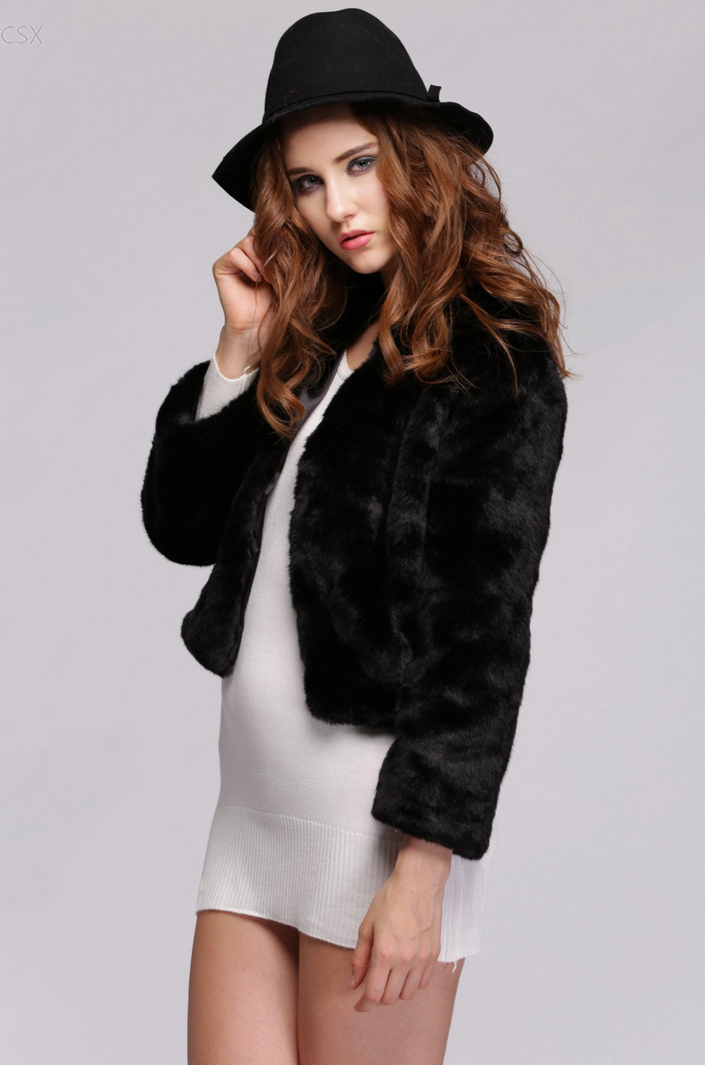 Long White Fur Coat Promotion-Shop for Promotional Long White Fur ...