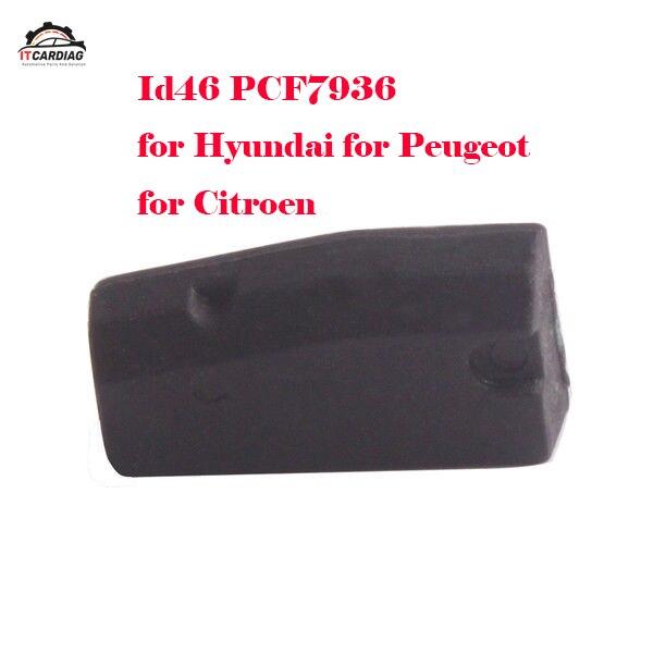 50 pcs 100 pièces voiture clé transpondeur puce id46 PCF7936 transpondeur puce meilleure qualité pour Hyundai pour Peugeot pour citroën