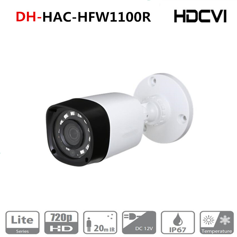 Original DH English Version HAC-HFW1000R 1MP HDCVI IR Bullet Camera Smart IR IP67 720P HD CCTV Lite Series DH-HAC-HFW1000R