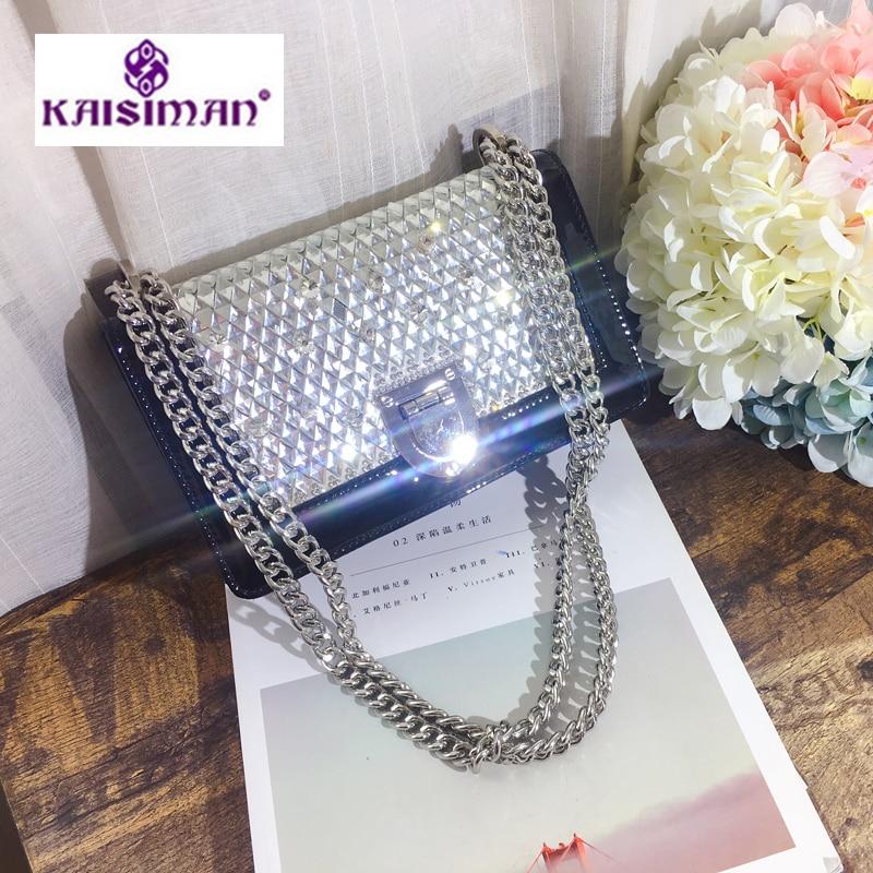 Luxurious Shining Bling Bags Fashion Diamond Chain Shoulder Bag Women Messenger Bag Designer Handbag Party Handbags Clutch Purse цена