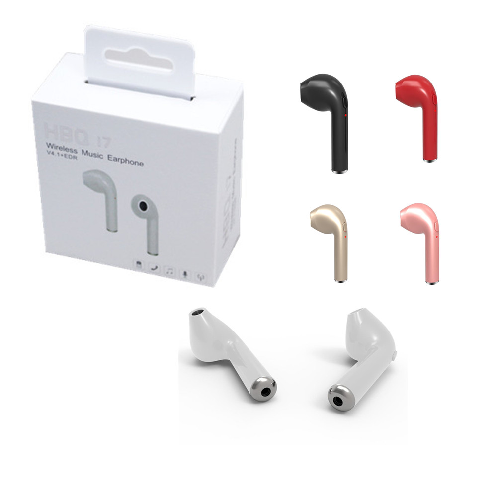 HBQ- i7 Bluetooth Headset Earbuds 4.1 Wireless Earphones i7 Handsfree Stereo Headphones with Microphone for iPhone Xiaomi phone m320 metal bass in ear stereo earphones headphones headset earbuds with microphone for iphone samsung xiaomi huawei htc