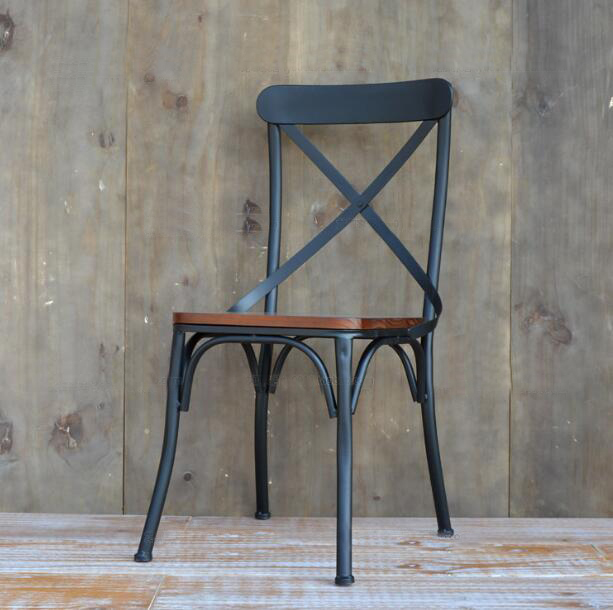 YINGYI Free Shipping Modern Iron Dining Chair With Arms
