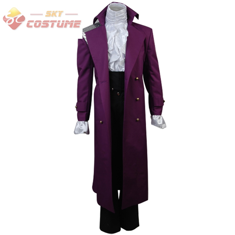 Prince Rogers Nelson in Purple Rain Coat Costume Cosplay For Adult ...