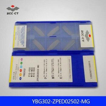 Original ZCC ZPED02502-MG YBG302 ZPED 02502 CNC Parting Inserts Turning Tools 2mm 10pcs/box ZCCCT Tungsten Carbide Inserts Lathe