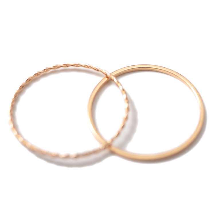 2 sztuk/zestaw złota Twist geometryczny pierścień dla kobiet biżuteria moda śliczne cienkie szczupła pierścionki na środek palca wspólny pierścień zestaw kobiet Party prezenty sprzedaż hurtowa