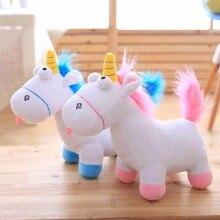 1pc 35cm Cute Unicorn Plush font b Toys b font Staffed Animal Horse Doll Christmas Present