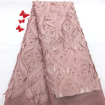 VILLIEA French Net Lace Fabric 2018 Latest African Lace Fabric With Embroidery Mesh Tulle Lace Fabric High Quality Nigerian Lace