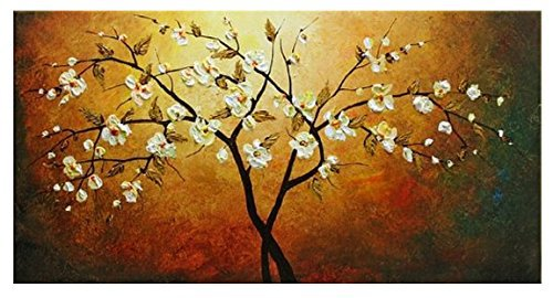 Free Shipping Wholesale Price For Flowers Tree Oil Painting Modern Home Wall Art Canvas On Sale