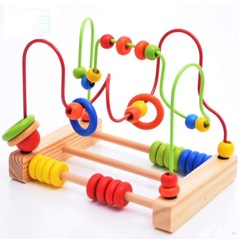 Wooden Toys Baby Fine Motor Skill Mini Rollercoaster Training Toys Educational Sensory Toys Toddler Learning Montessori Maze