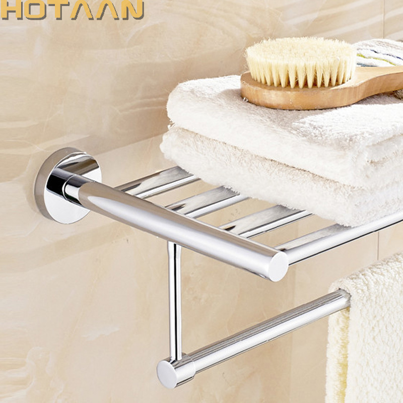 HOT SELLING, FREE SHIPPING, Wall mounted Bathroom towel holder, chrome towel rack,60cm stainless steel towel rack with hooks viborg deluxe sus304 stainless steel foldable wall mounted bathroom towel rack shelf towel holder storage