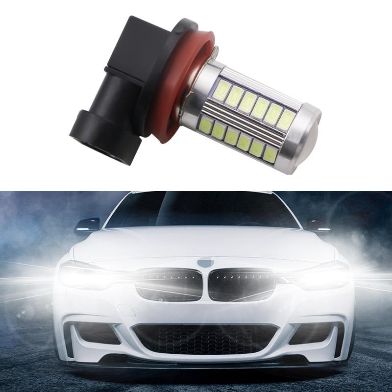 1 Pieces Fog H11 LED High Power 33 Smd Fog Head Tail Car Bulb Lamp 12v Light Source Car White Red Blue