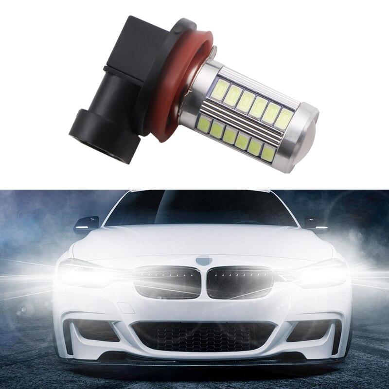 1pc Fog H11 LED High Power 33SMD Fog Head Tail Car Bulb Lamp 12V Light Source Car White Red Blue