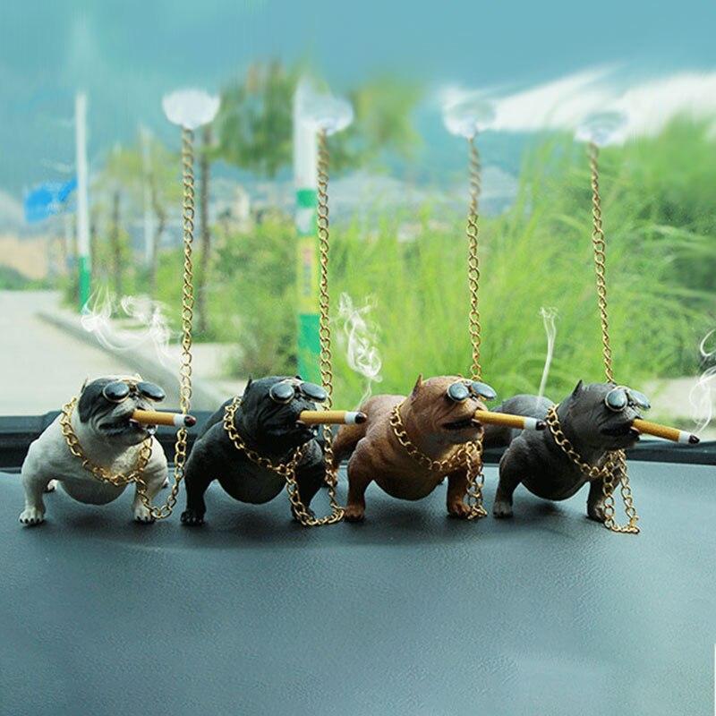 Yesplease Car Fashion Simulation Dog Doll Car Ornaments Dog Car Decoration Creative Personality High Grade font