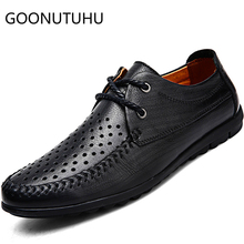 2019 new style men's shoes casual genuine leather male summer breathable lace up brown black shoe man hollow flat shoes for men yeinshaars men genuine leather oxfords shoes luxury brand italian style male footwear shoes for men breathable flat lace up shoe