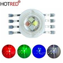 10-100 шт. 45MIL RGBW светодиодный Диод 8 контактов высокой мощности светодиодный чип 4 Вт-12 Вт красочные четыре основных источника DIY для светодиодный освещения сцены