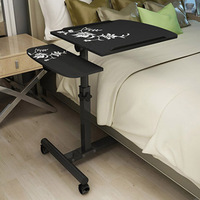 2018 Foldable Computer Table Adjustable Portable Laptop Desk Rotate Laptop Bed Table Can Be Lifted Standing