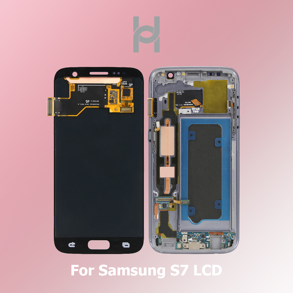New And Original LCD For <font><b>Samsung</b></font> <font><b>Galaxy</b></font> <font><b>S7</b></font> LCD G930 G930F <font><b>Display</b></font> Digitizer <font><b>Assembly</b></font> Replacement Super AMOLED Quality image