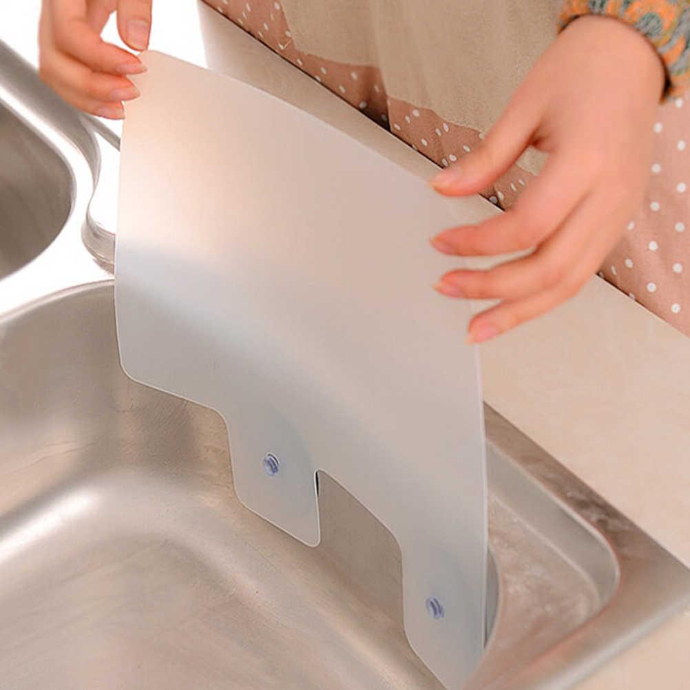 Cucina accessori per il bagno organizzatore mensola mensola a muro ventosa acqua splash deflettore piscina bordo di cucina cremagliera mensola lavandino