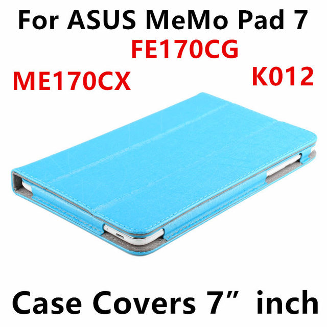 Case For ASUS MeMo Pad 7 ME170C Protective Smart cover Leather Tablet For asus FE170CG ME170CX K012 7 inch PU Protector Sleeve