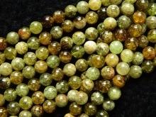Envío libre granate natural 8mm verde ronda suelta perlas piedra de alta calidad para la fabricación de joyas