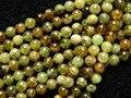Frete grátis granada natural 8mm verde rodada pedra solta contas de alta qualidade para fazer jóias