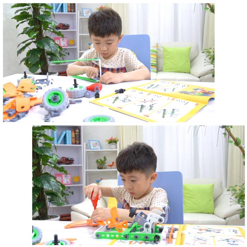 BAISIQI-3D-DIY-plasticRubber-Alien-Robert-Transformer-Assembly-Model-Building-Kits-Educational-Puzzles-for-boy-5
