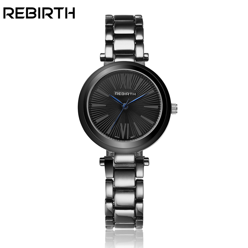 REBIRTH Luxury Waterproof Women Watch Ladies Quartz Watch Women Wristwatch Relogio Feminino Montre Femme Reloj Mujer Black Watch original server fan for ml150 g6 pn 519737 001 487108 001 sps fan front system
