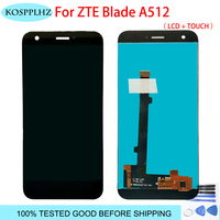 100% Tested 5.2'' New For ZTE Blade A512 Z10 Full LCD DIsplay + Touch Screen Digitizer Assembly Black color phone + tools