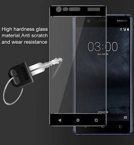 Image 3 - 1 adet temperli cam Nokia 3 için ekran koruyucu Nokia 3 için tam kapak Nokia 3 TA 1020 TA 1032 3D kavisli kenar filmi HATOLY