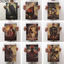 OLOEY 1PC 51.5x36cm Movie Marvel Series Poster Avengers Infinity War Retro Wall Stickers  For Living Room Home Decoration