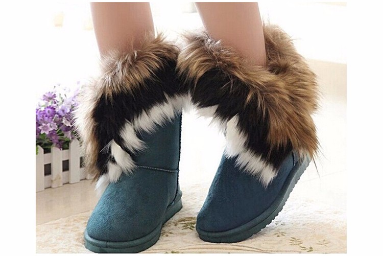 2016 New Fashion Women Snow Boots Round Toe Solid Fur Warm Woman Boots Comfortable Wild Casual Women Shoes Free Shipping ST910 (5)