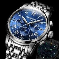 Reloj militar luminoso tritio de marca de lujo para hombre  relojes mecánicos automáticos de fase lunar  reloj resistente al agua uhren montre C8799 1 Relojes mecánicos     -
