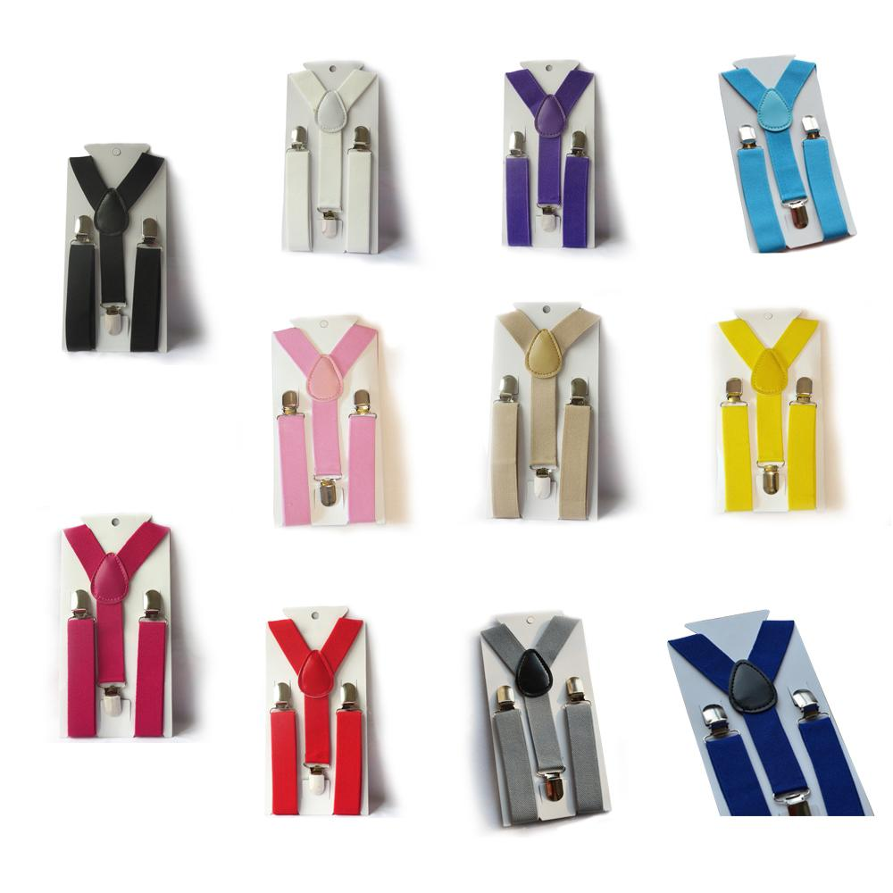 Boys Girls Kid Children Clip On Y Back Elastic Suspenders Slim Adjustable Braces Tirantes S2