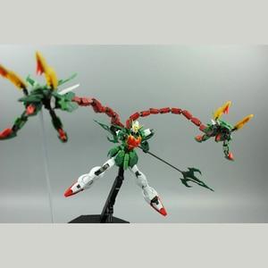 Image 5 - סופר נובה XXXG 01S2 ירוק כפול הדרקון Altron Gundam דגם ערכת MG 1/100 פעולה איור עצרת צעצוע מתנת מים מדבקה