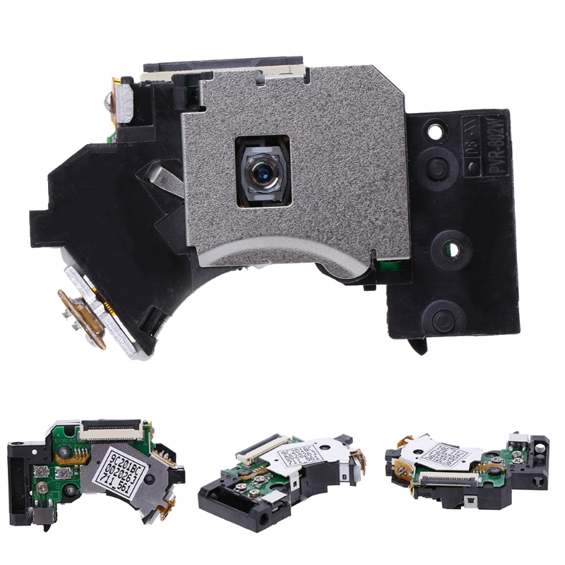 New PVR-802W Replacement <font><b>Laser</b></font> Lens Repair <font><b>Parts</b></font> For Sony PlayStation 2 <font><b>PS2</b></font> Slim Plastic + Metal Black image
