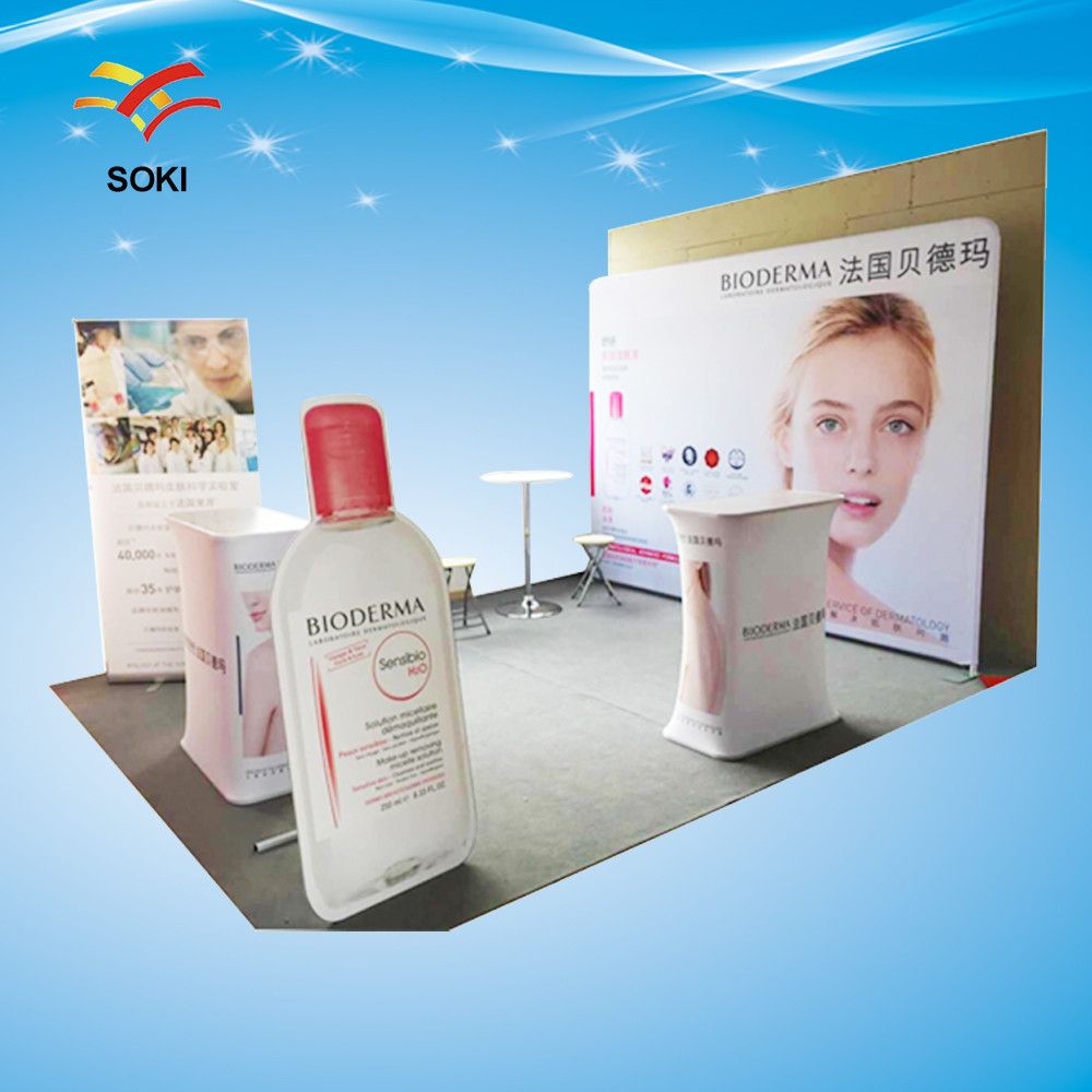 Exhibition Booth Size : Ft trade show booth size high quality portable tension