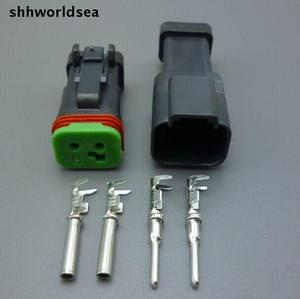 Shhworldsea 5/30/100 zestawy DT06-2S-EP06 DT04-2P-CE05 2 Pin silnik wodoodporne złącze elektryczne do samochodu, autobusu, silnik, ciężarówka, itp