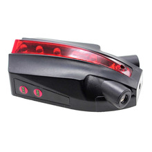 LOGO Projection Bicycle Rear Tail Lamp 5 LED 2 Laser Cycling Bike Lights Outdoor