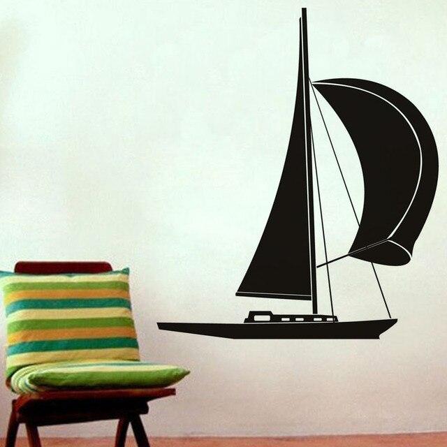 Top Selling Kleine Zeilboot Muurtattoo Woonkamer Sofa Achtergrond ...