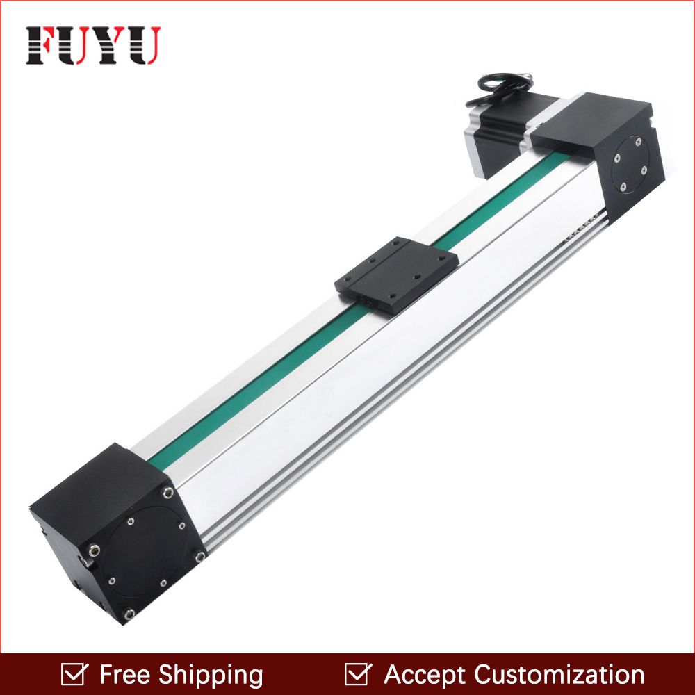 Free shipping 600mm length belt drive linear guide actuator rail for 3d printer cnc machine belt driven linear slide rail belt drive guideway professional manufacturer of actuator system axis positioning