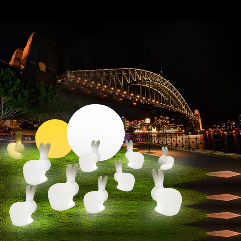 LED Nordic PE Night Light Living Room Bedroom Bedside Moon Lamp Colorful Remote Control Night Lamp Children Room Decor Luminaria in LED Night Lights from Lights Lighting