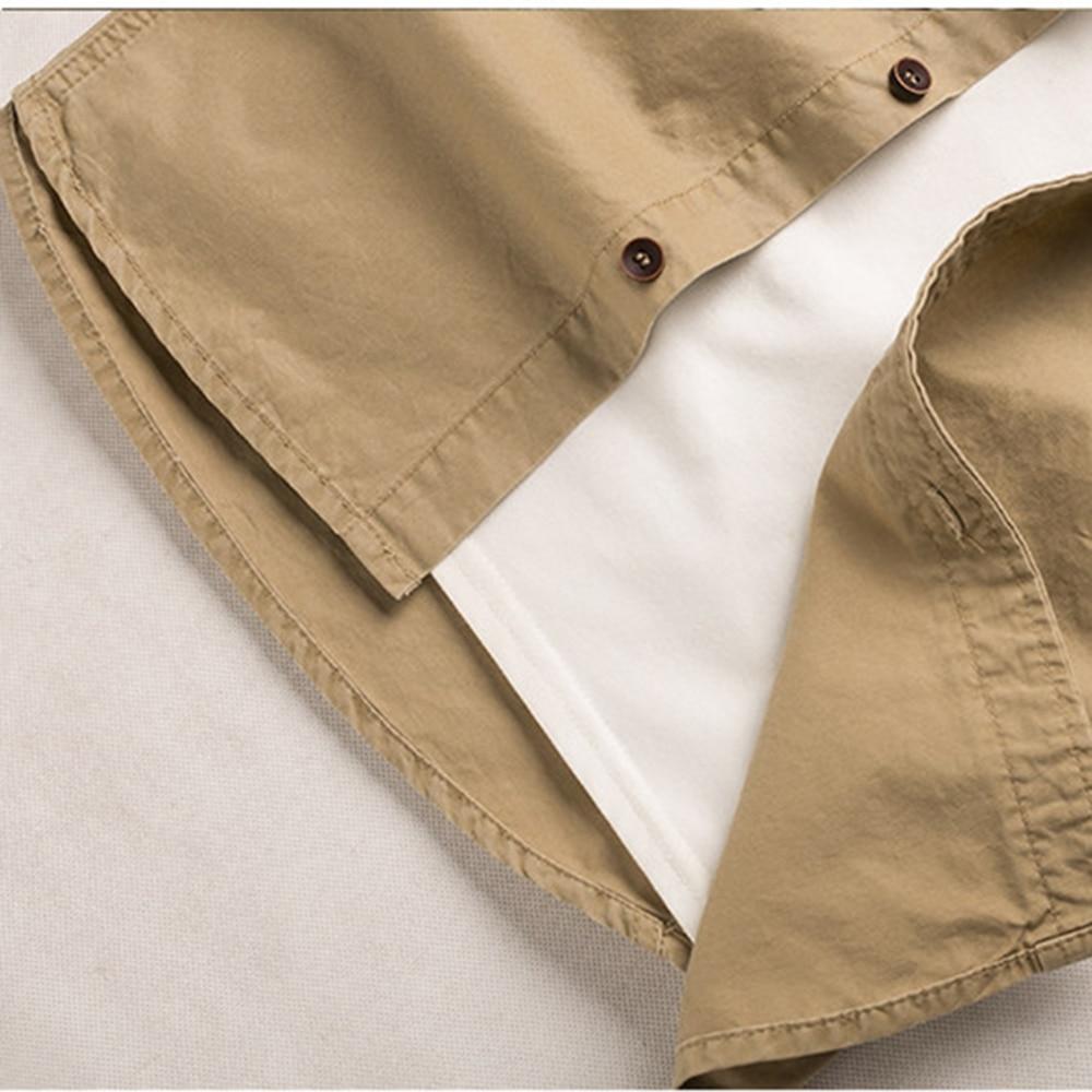 7aafa5f25a Hombres estilo Safari Camisa de algodón más tamaño Casual manga larga Cargo  militar doble bolsillos Top Multi Color 904 303 en Camisas casuales de La  ropa ...