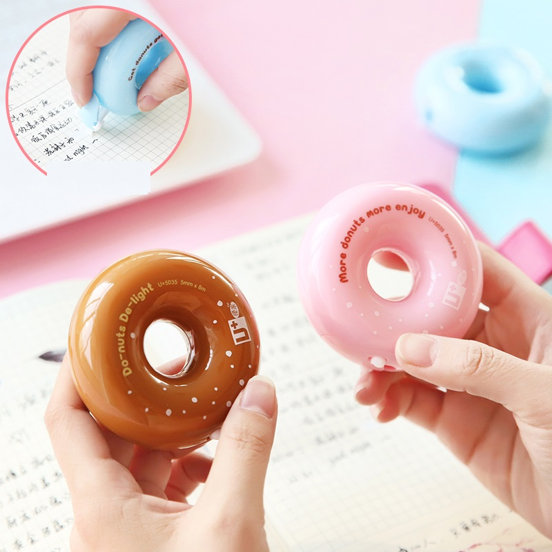 Mini Tasty Donuts Correction Tape 5mm*8m White Corrective Masking Tapes Cute Candy Corrections Stationery Office School A6494