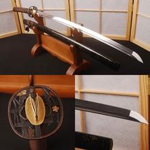 Japanese Sword Samurai Katana Folded Steel Handmade Full Tang High Quality Sharp Knife Vintage Home Decor Good Gift for Boys