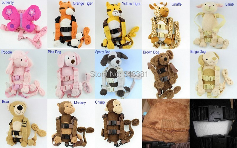 20pcs/lot Harness Buddy Goldbug 2 in 1 Baby Harness Backpacks with