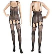 IMC Coveralls Stockings Sexy Jacquard Corset Net Clothing Temptation Fishnet Stockings