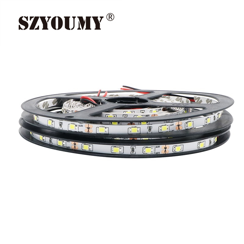 Led Lighting Led Strips Charitable Szyoumy Super Bright 5mm Width Panel Lighting Tape 200 Reel 1000m Smd 2835 Led Strip 60leds/m Dc 12v Non-waterproof Flexible Modern Design