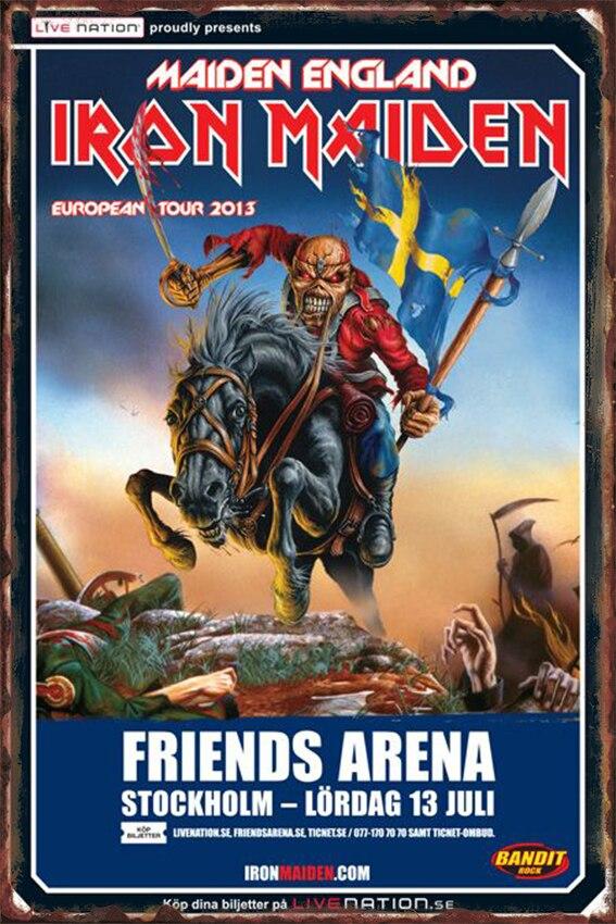 Vintage Home Decor  Iron Maiden Vintage Metal Signs Plaques & Signs Home Decor Plates Retro Size:20*30cm