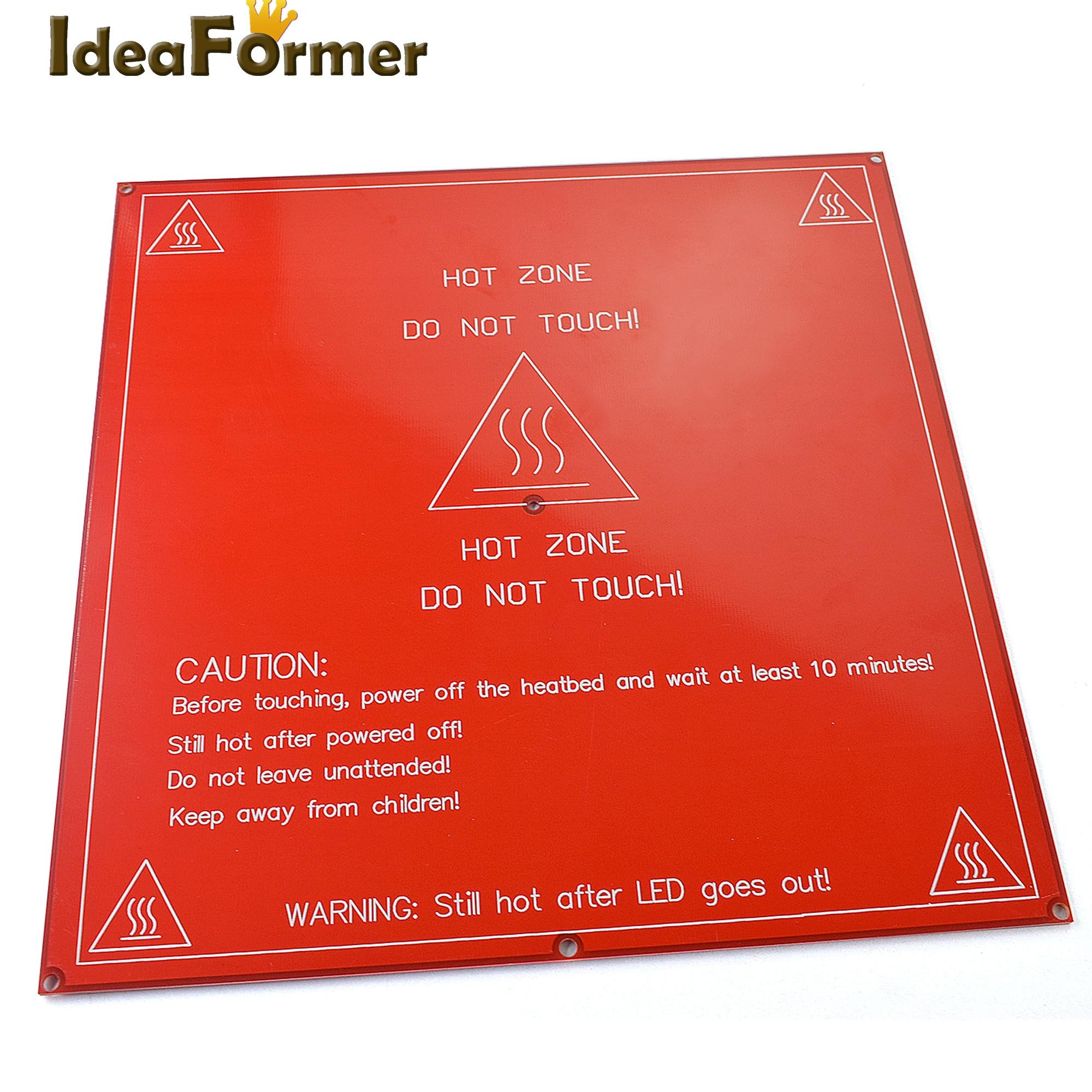 RepRap PCB Heatbed MK2B square Heat Bed Hot Plate For Prusa Mendel 3D Printer parts 3d printer 3mm square pcb heat bed mk3 reprap hot plate dual voltage 12 24v